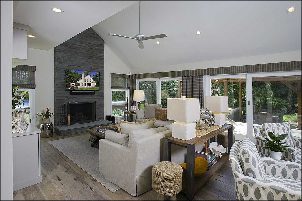 saltbox modern update east hampton ny living room 2 - Living Room East Hampton